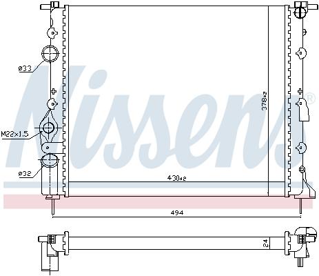 Radiateur de refroidissement NISSENS 693634 (X1)