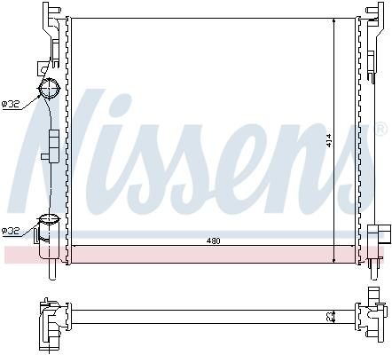 Radiateur de refroidissement NISSENS 694017 (X1)