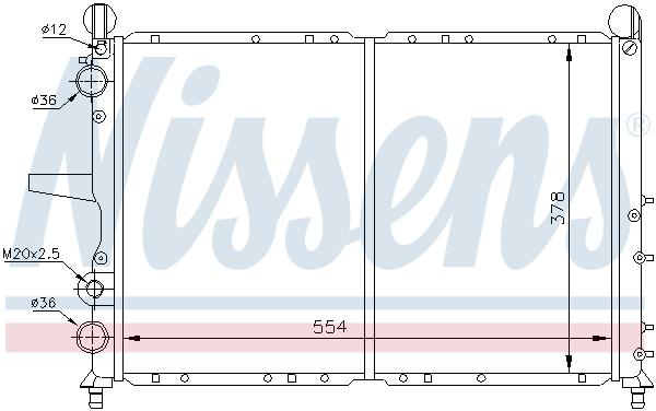 Radiateur de refroidissement NISSENS 697024 (X1)