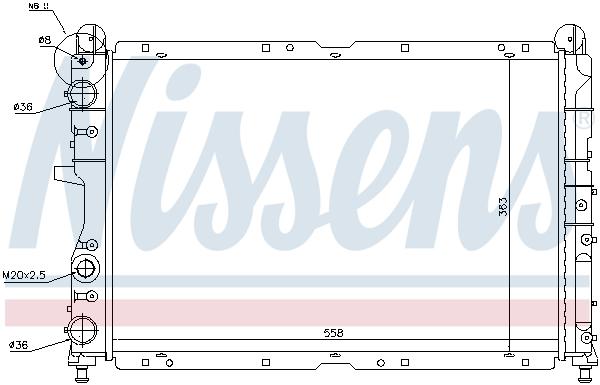 Radiateur de refroidissement NISSENS 698837 (X1)