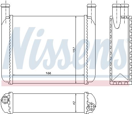 Radiateur de chauffage NISSENS 70010 (X1)