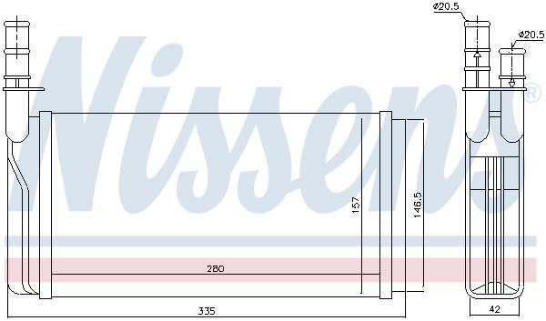 Radiateur de chauffage NISSENS 70011 (X1)