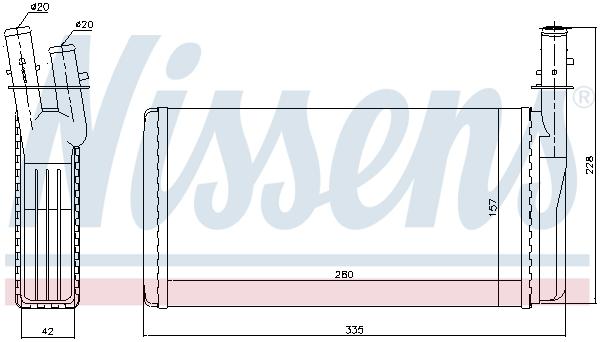 Radiateur de chauffage NISSENS 70016 (X1)