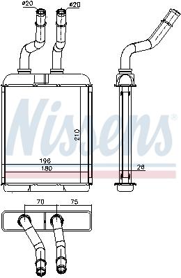 Radiateur de chauffage NISSENS 70017 (X1)