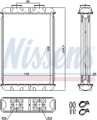 Radiateur de chauffage NISSENS 70019 (X1)