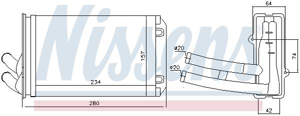 Radiateur de chauffage NISSENS 70222 (X1)