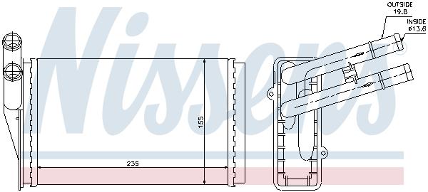 Radiateur de chauffage NISSENS 70224 (X1)