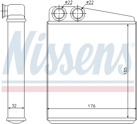 Radiateur de chauffage NISSENS 70228 (X1)