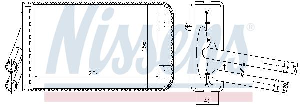 Radiateur de chauffage NISSENS 70229 (X1)