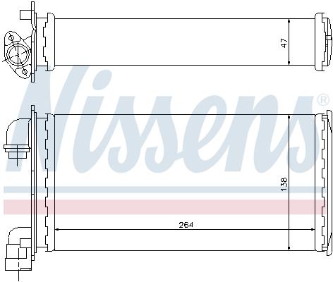 Radiateur de chauffage NISSENS 70501 (X1)