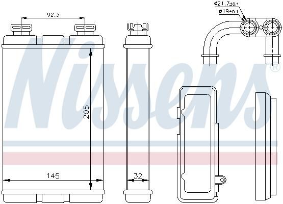 Radiateur de chauffage NISSENS 70520 (X1)