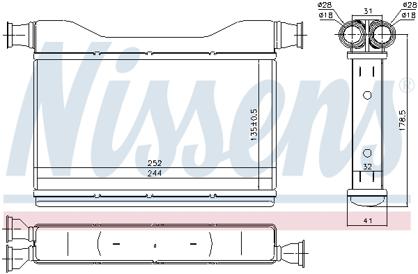 Radiateur de chauffage NISSENS 70528 (X1)