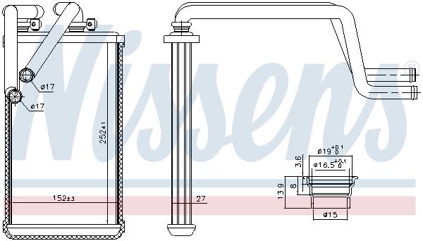 Radiateur de chauffage NISSENS 707074 (X1)