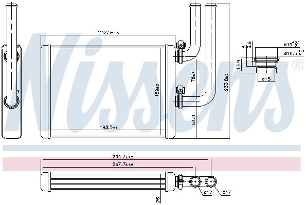 Radiateur de chauffage NISSENS 707076 (X1)