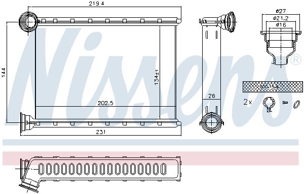 Radiateur de chauffage NISSENS 707079 (X1)