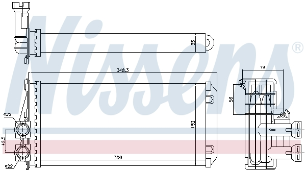 Radiateur de chauffage NISSENS 707083 (X1)