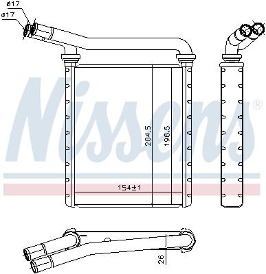 Radiateur de chauffage NISSENS 707090 (X1)