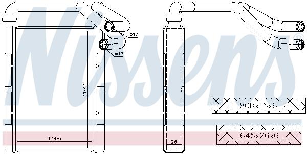 Radiateur de chauffage NISSENS 707093 (X1)