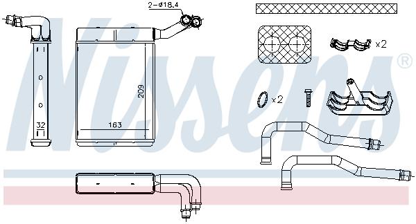 Radiateur de chauffage NISSENS 707095 (X1)
