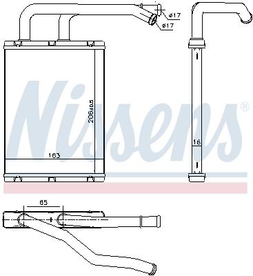 Radiateur de chauffage NISSENS 707176 (X1)