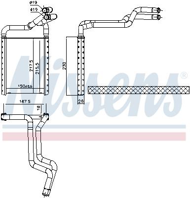 Radiateur de chauffage NISSENS 707180 (X1)