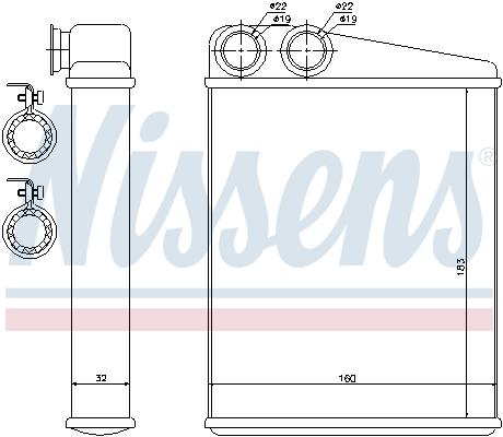Radiateur de chauffage NISSENS 70807 (X1)