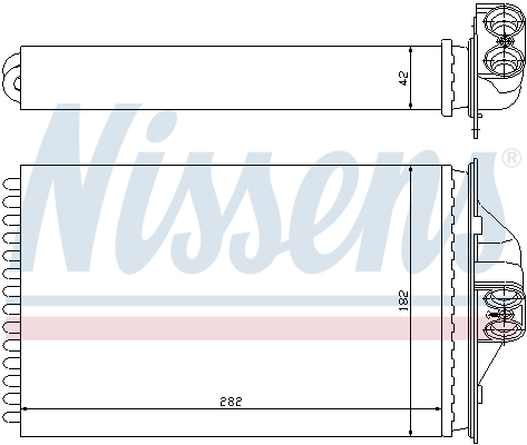 Radiateur de chauffage NISSENS 70975 (X1)
