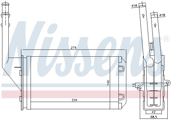 Radiateur de chauffage NISSENS 71143 (X1)