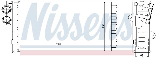Radiateur de chauffage NISSENS 71145 (X1)