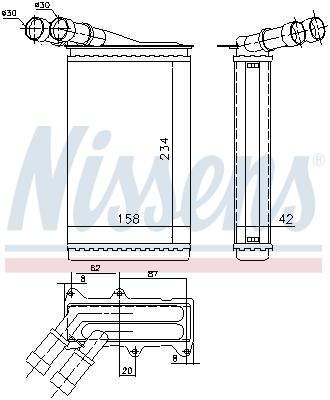 Radiateur de chauffage NISSENS 71147 (X1)