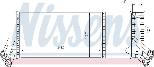 Radiateur de chauffage NISSENS 71149 (X1)