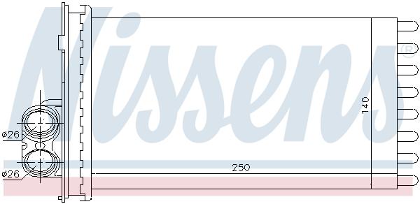Radiateur de chauffage NISSENS 71154 (X1)