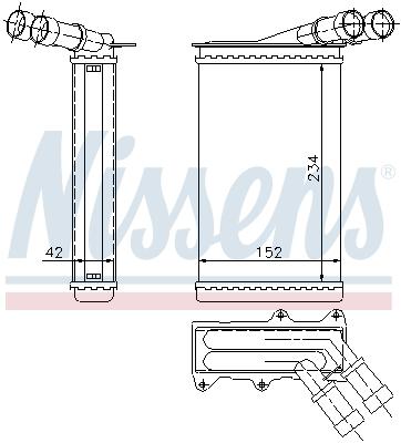 Radiateur de chauffage NISSENS 71156 (X1)