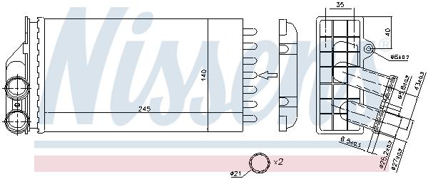 Radiateur de chauffage NISSENS 71157 (X1)