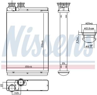 Radiateur de chauffage NISSENS 71158 (X1)