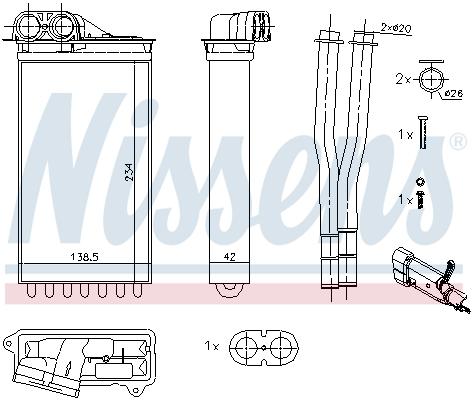 Radiateur de chauffage NISSENS 71161 (X1)