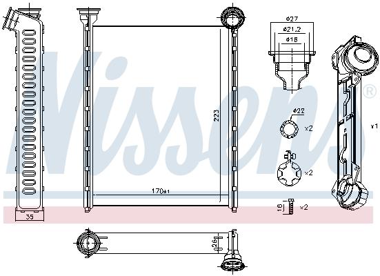 Radiateur de chauffage NISSENS 71162 (X1)