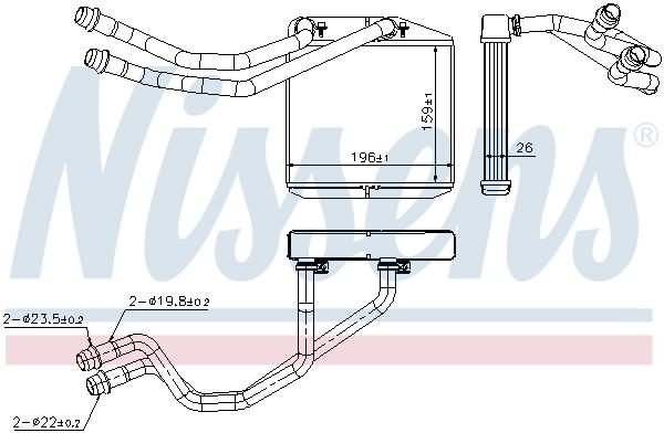Radiateur de chauffage NISSENS 71163 (X1)