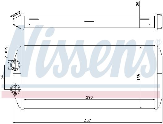 Radiateur de chauffage NISSENS 71164 (X1)