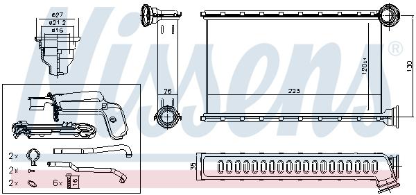 Radiateur de chauffage NISSENS 71165 (X1)