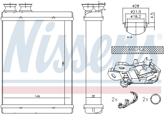 Radiateur de chauffage NISSENS 71167 (X1)