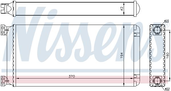 Radiateur de chauffage NISSENS 71302 (X1)