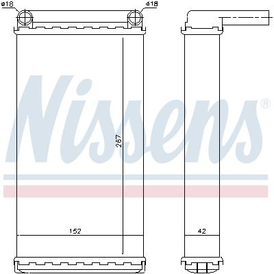 Radiateur de chauffage NISSENS 71375 (X1)