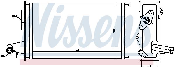 Radiateur de chauffage NISSENS 71438 (X1)