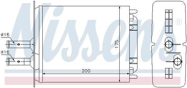Chauffage NISSENS 71439 (X1)
