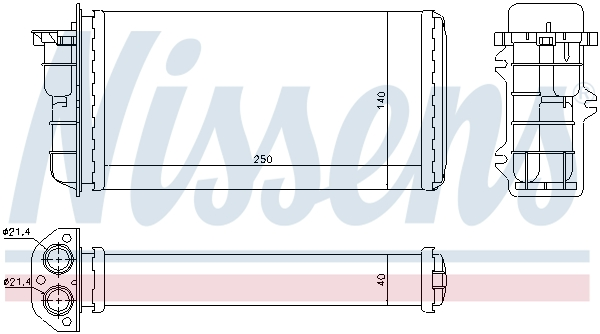 Radiateur de chauffage NISSENS 71441 (X1)
