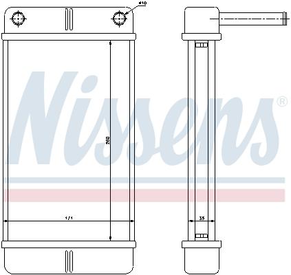 Radiateur de chauffage NISSENS 71443 (X1)