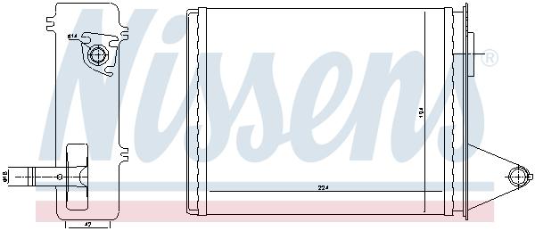 Chauffage NISSENS 71448 (X1)