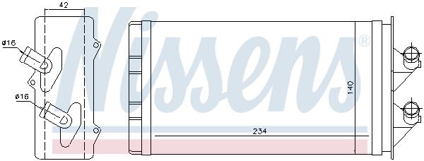 Radiateur de chauffage NISSENS 71449 (X1)