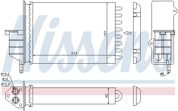 Chauffage NISSENS 71450 (X1)